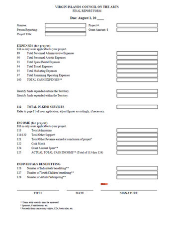 Final Report Form