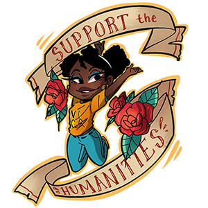 Support the Humanities Tattoo Sticker